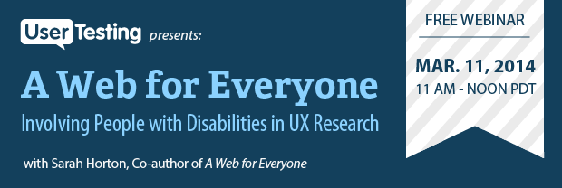 Webinar: include people with disabilities in user research