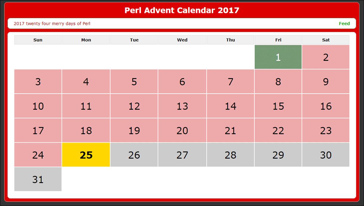 Perl Advent Calendar 2017.