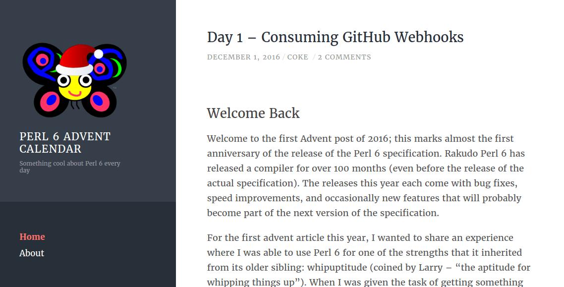 2016 Perl 6 Advent Calendar