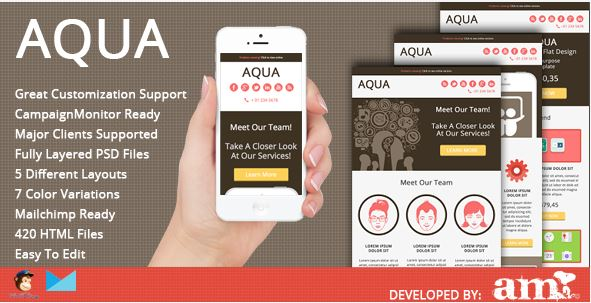 AQUA responsive email template