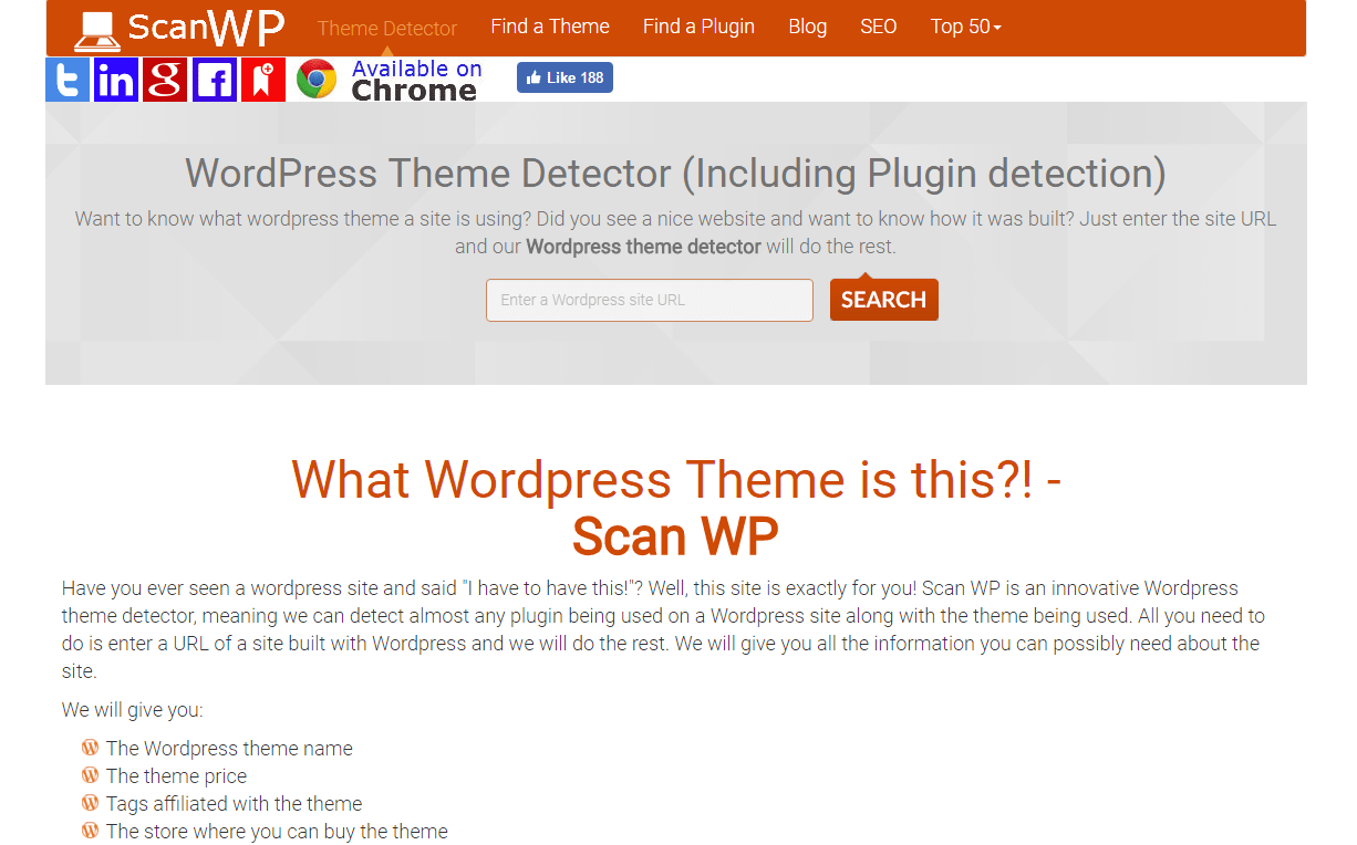 What WordPress Theme is this? ScanWP
