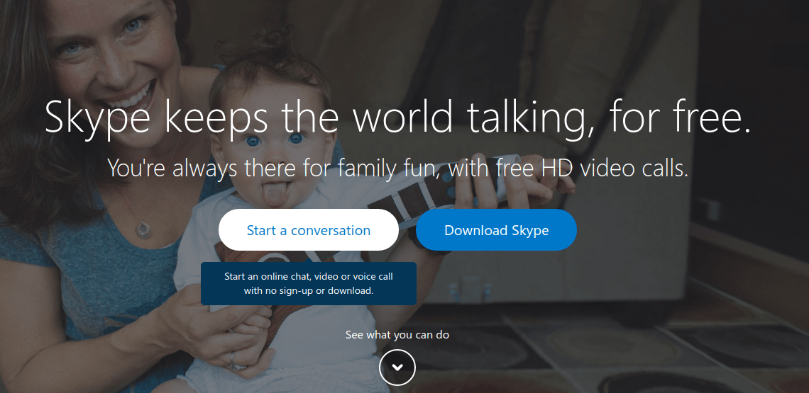 Video chat no signup