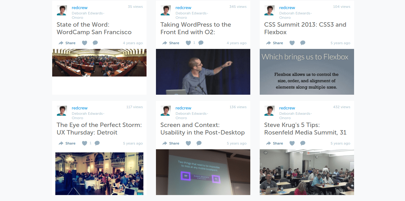 My Storify stories on UX Thursday, WordCamp San Fransciso, and CSS Summit
