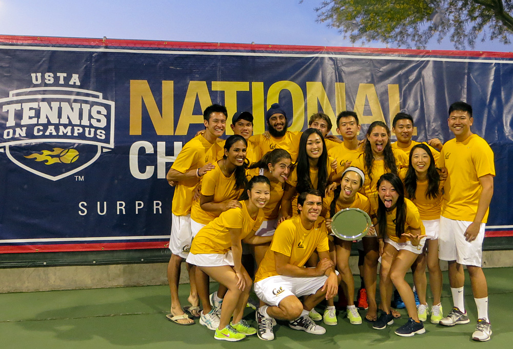 University of California, Berkeley 2014 Tennis on Campus National Championship winners