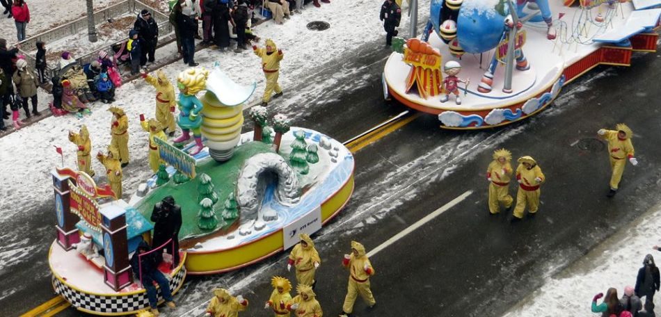 Float in the Thanksgiving Day Parade in Detroit