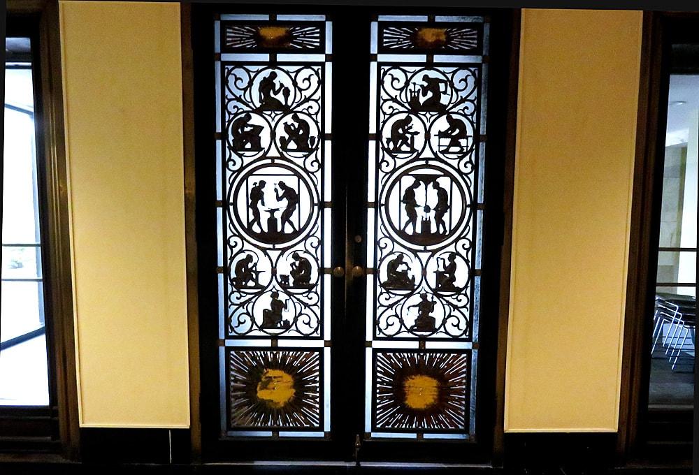 Decorative metalwork double doors & Photo of the Week: Toledo Museum of Art Bronze Doors