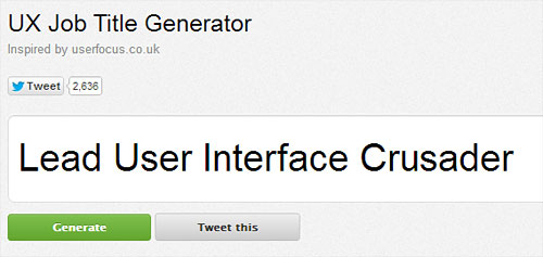 user experience job generator