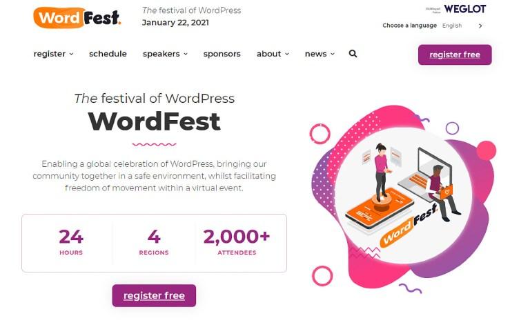 WordFest Live 2021: the festival of WordPress