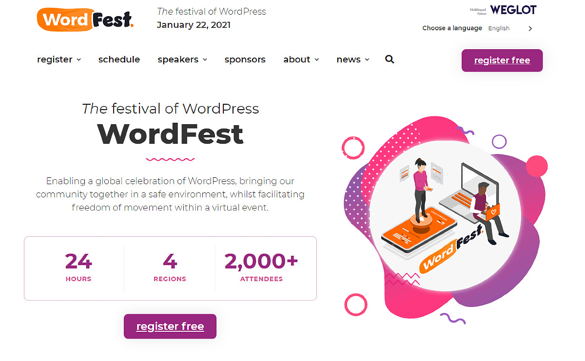WordFest Live 2021: the festival of WordPress