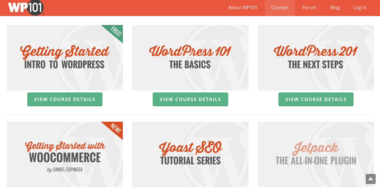 WP101 video courses