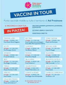 calendario vaccini in tour ciociaria