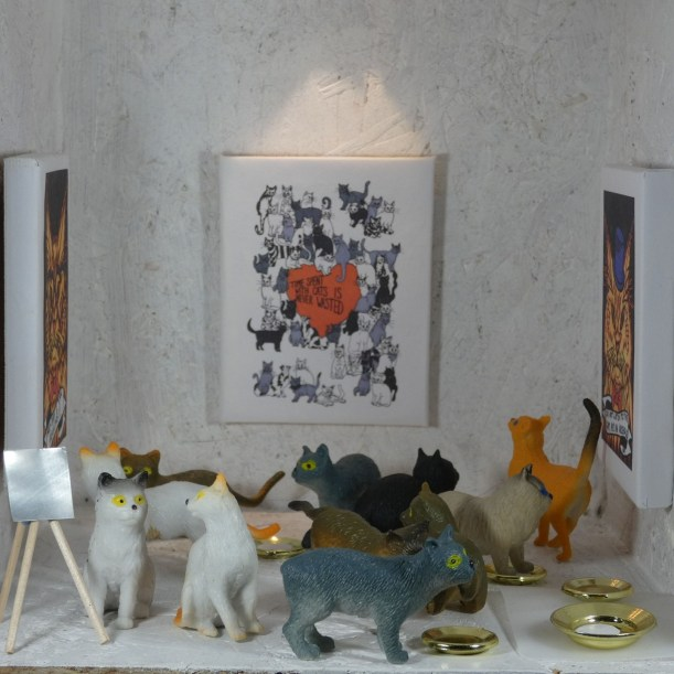 Sunday afternoon private view for Catitude Victoria Shone