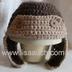 crochet baby hat aviator crochet hat pattern free