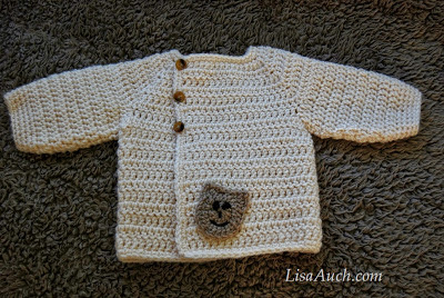 7c3b6f91d Free Baby Crochet Cardigan Pattern – LisaAuch