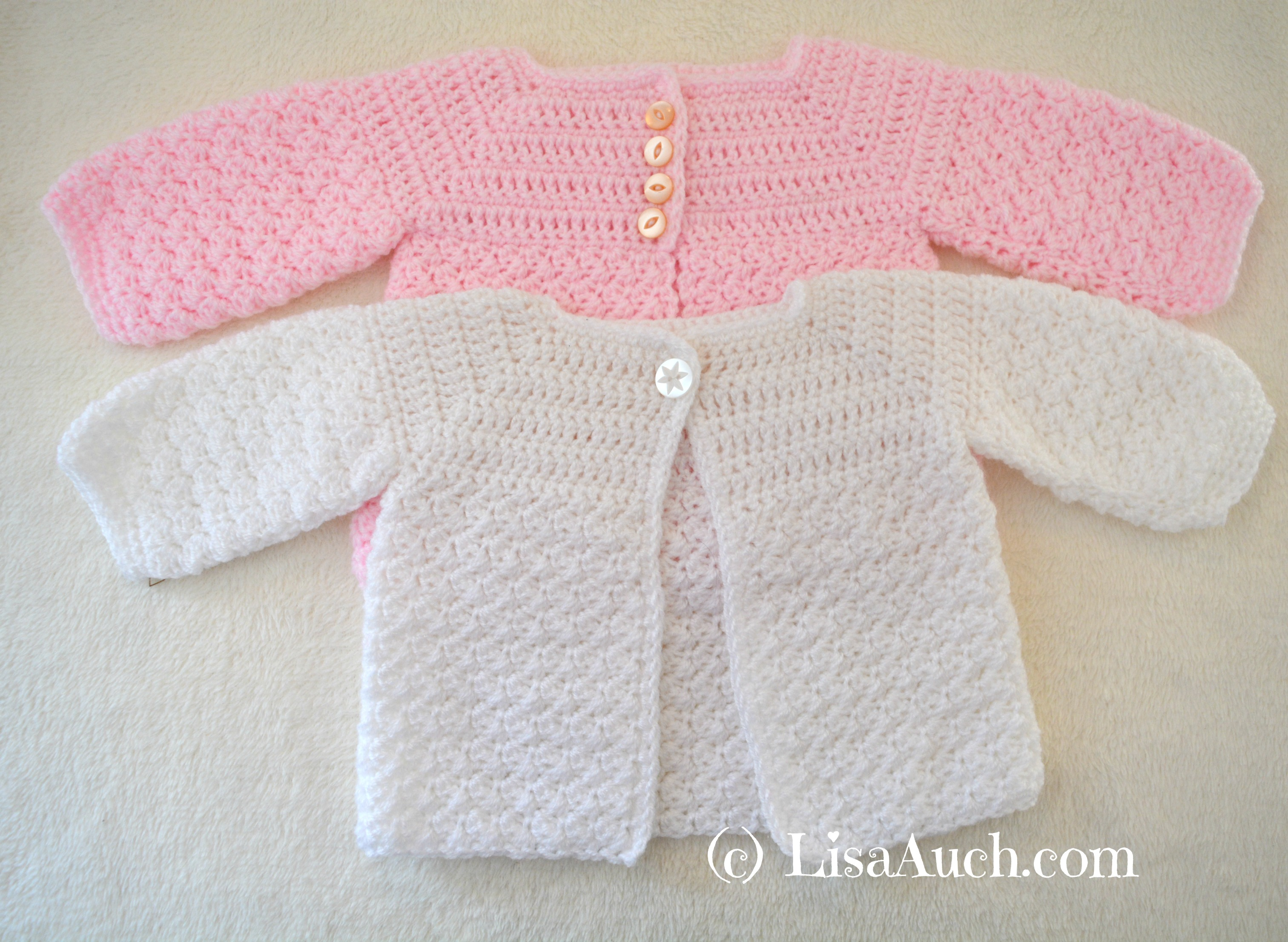 c578ab3a1 Free Crochet Baby Cardigan Patterns – LisaAuch