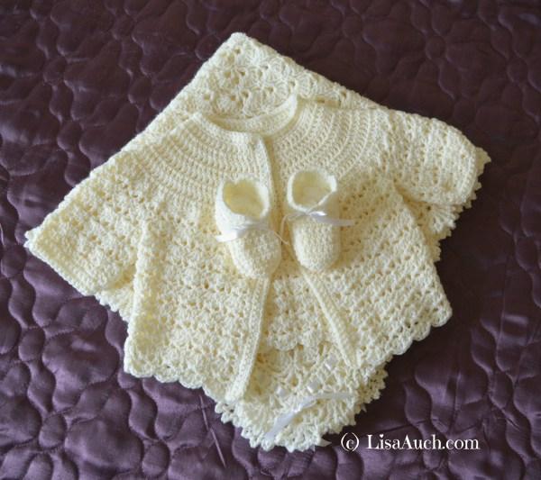 Crochet Beautiful Gift Crochet Blanketshawl Booties And Cardigan