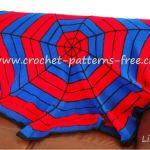 Spiderman Crochet Balnket Pattern FREE crochet Pattern