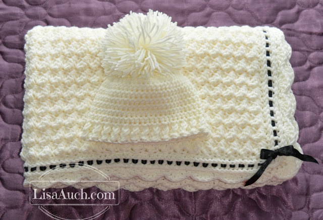 1687869c040 Crochet A Beautiful Baby Blanket   Crochet Baby Hat With these FREE ...
