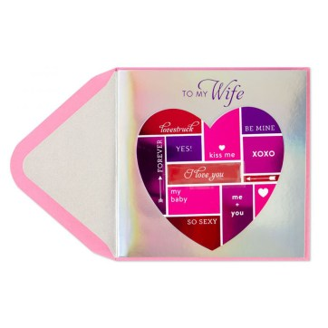 Color Block Heart | Valentine's Day Card
