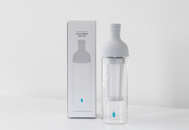 Color design update for grey cold brew bottle packaging