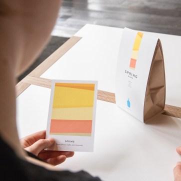 Seasonal Blend retail bag sleeve and coffee card