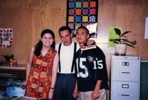 June 1995 - Lisa Ceja and 2 students