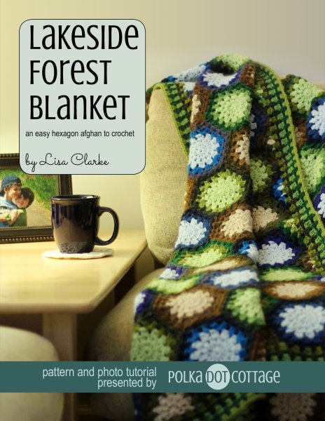 Lakeside Forest Blanket crochet pattern at Polka Dot Cottage
