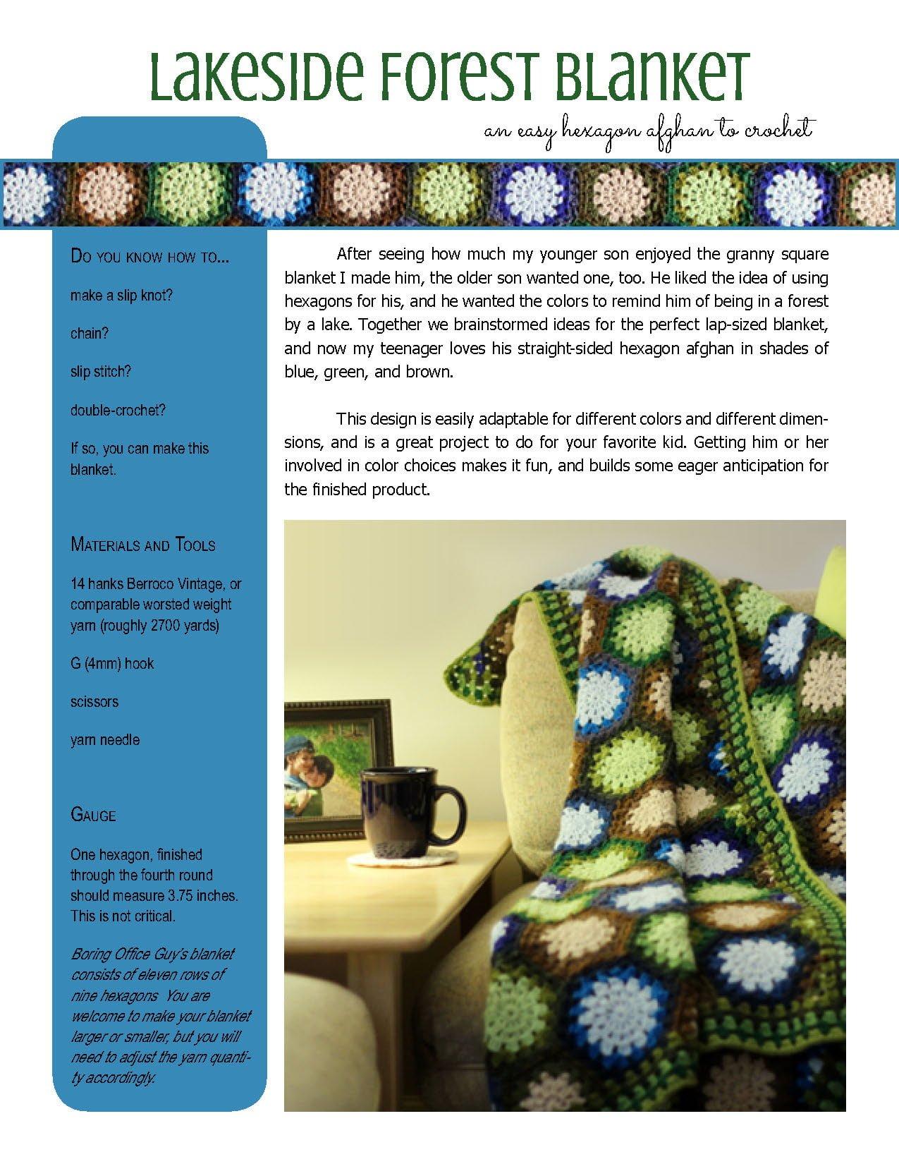 Lakeside Forest Blanket Crochet Pattern ⋆ Polka Dot Cottage