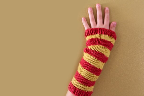 Striped Wristwarmers, at Polka Dot Cottage