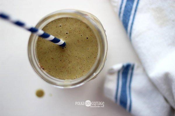 Make-Ahead Green Smoothie recipe at Polka Dot Cottage