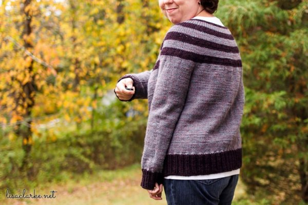 Striped Yoke Cardigan