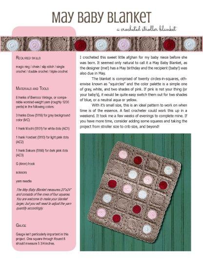 May Baby Blanket crochet pattern at Polka Dot Cottage