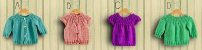Four little top-down sweaters to knit for baby!
