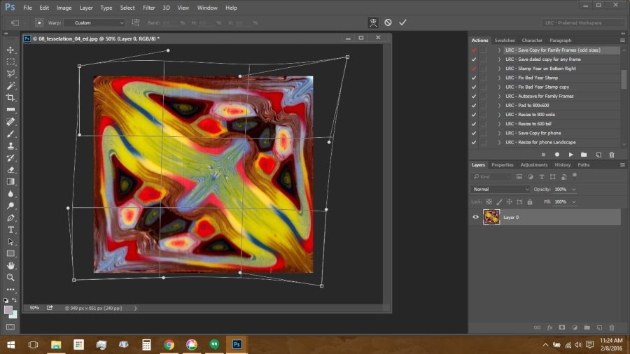 Using Polymer Clay Canes to Make Repeating Patterns in Photoshop: Transforming the Image