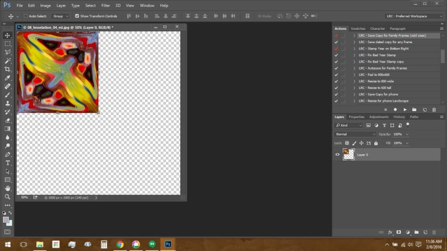 Using Polymer Clay Canes to Make Repeating Patterns in Photoshop: Tesselation Step 1