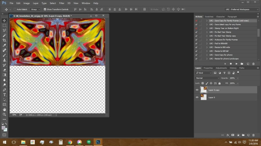 Using Polymer Clay Canes to Make Repeating Patterns in Photoshop: Tesselation Step 2