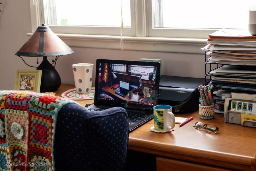 Desk Decluttering: After