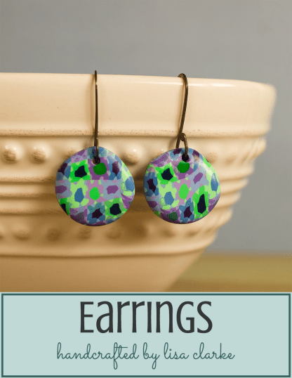 Polka Dot Cottage Colorful Handmade Earrings by Lisa Clarke