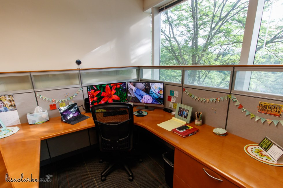 Ways to Make Your Cubicle Less Awful: Desk by the Window