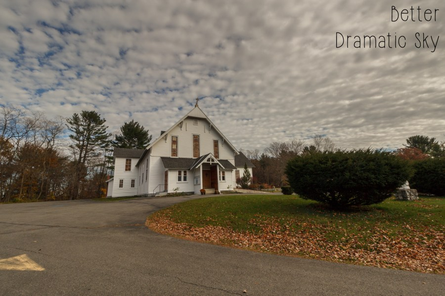 Photoshop Actions and Lightroom Presets: Cairo NY Church - Dramatic Sky