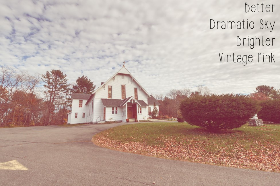 Photoshop Actions and Lightroom Presets: Cairo NY Church - Vintage Pink