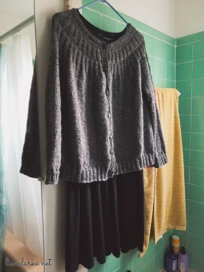 Gray Tweed Everyday Cardigan