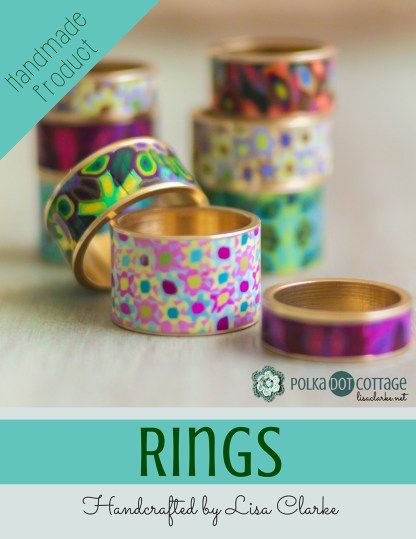 Polka Dot Cottage Brass Channel Rings