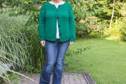Fireside Cardigan Knitting Pattern, Long Sleeve Version