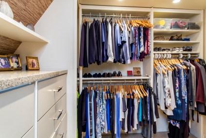 photo of tidy clothes closet