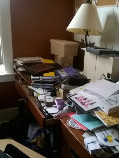 messy desk - before & after photos