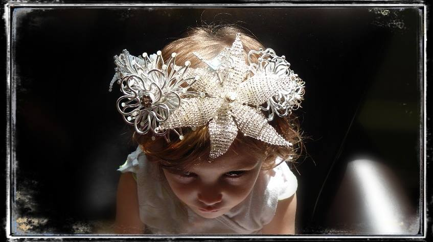 Bridal Flower Crown with Wings by Bridal and Mythical Accessories and Fashion Jewellery