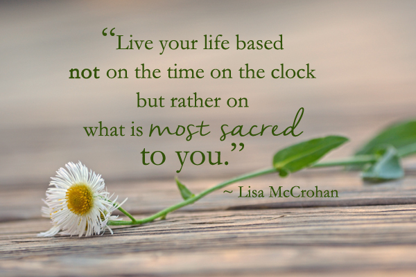 """Radical Regard…for Yourself – With """"MY SACRED SPACE TIME"""""""