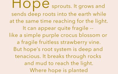 For Hope to Blossom