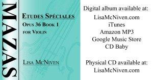 Audio recording of Mazas Etudes Speciales Opus 36 Book 1 for Violin.
